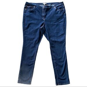Woman Within dark wash jeans size 26W Tall